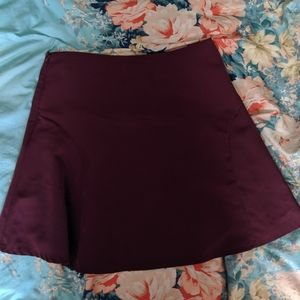 Limited wine colored circle skater skirt